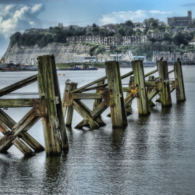 """""""Cardiff Bay Old Jetties"""" stock image"""