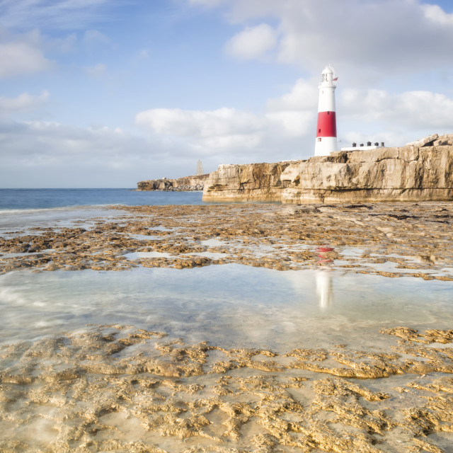 """Portland Bill Reflections"" stock image"