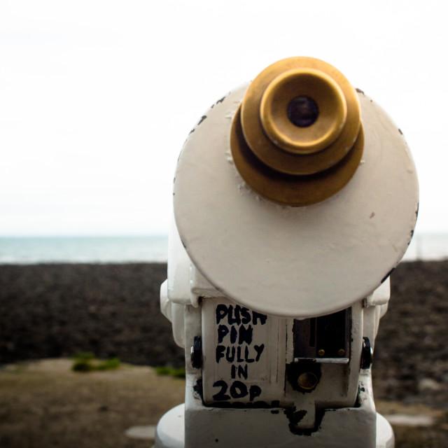 """Beach Telescope"" stock image"