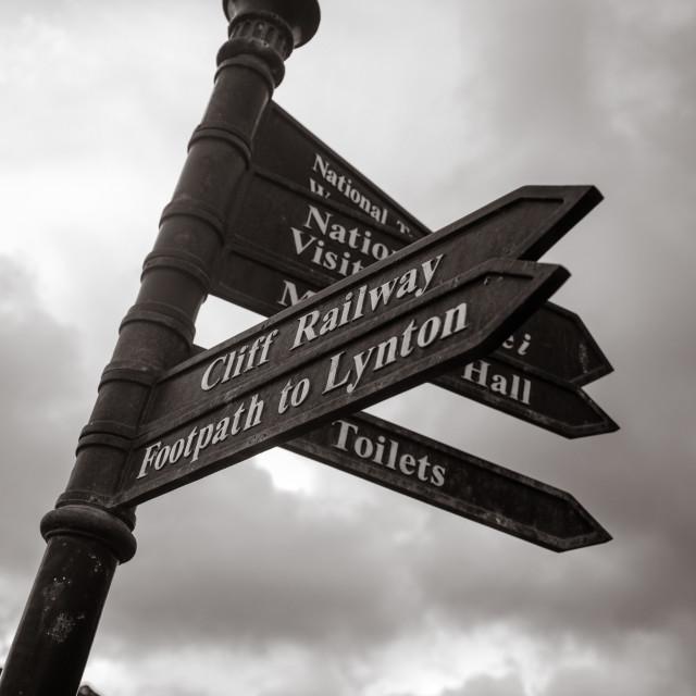 """Signs of Devon"" stock image"