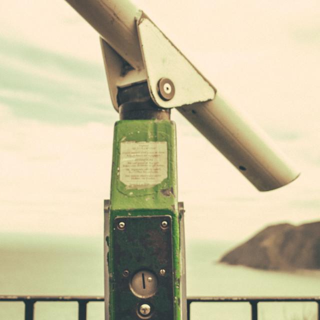 """Seaside telescope"" stock image"