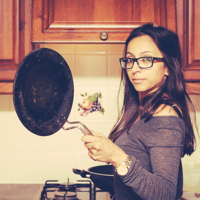 """Saucy pan"" stock image"
