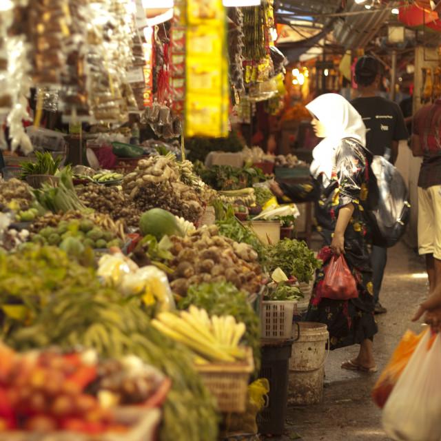 """""""Market day"""" stock image"""