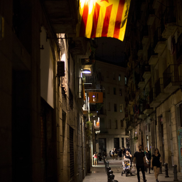 """Catalonia Flag in Barcelona"" stock image"
