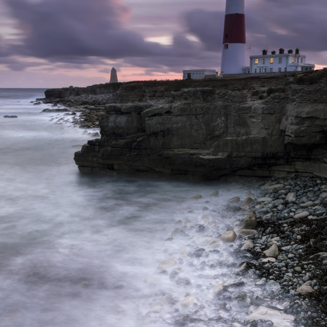 """Portland Bill All Lit Up"" stock image"
