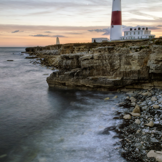 """Portland Bill Sunset"" stock image"