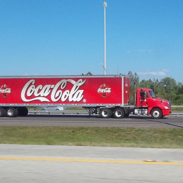 """Coca Cola Truck"" stock image"