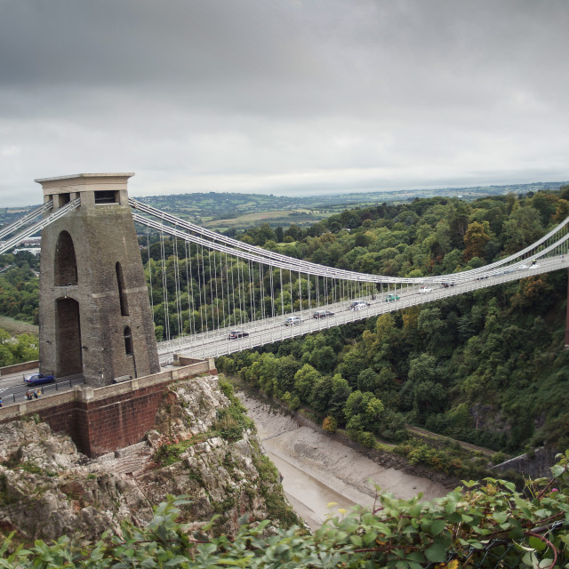 """Clifton Suspension Bridge"" stock image"