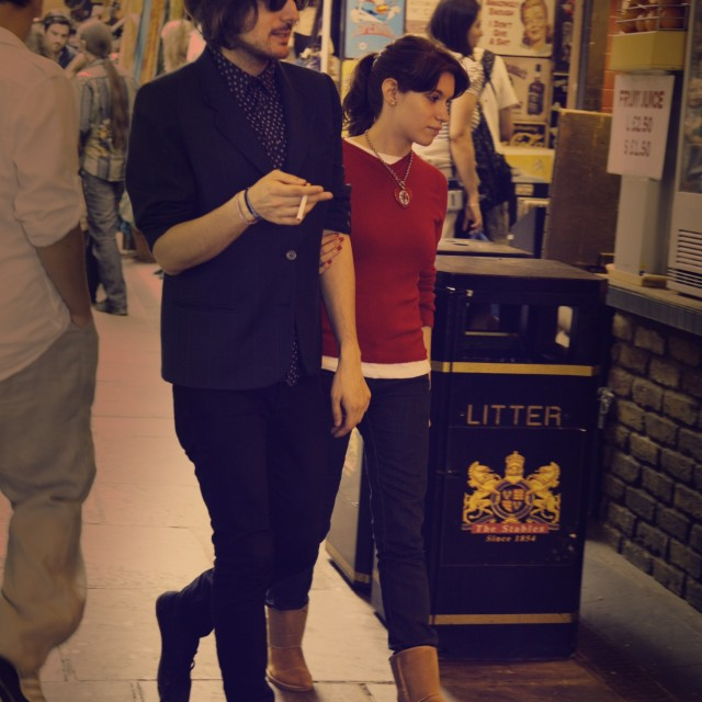 """Couple in Camden Market"" stock image"