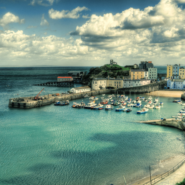 """Tenby Harbour"" stock image"