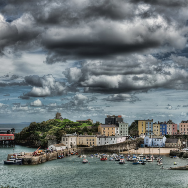 """Tenby Pembrokeshire"" stock image"