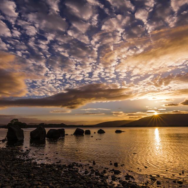 """Loch Lomond Sunset"" stock image"