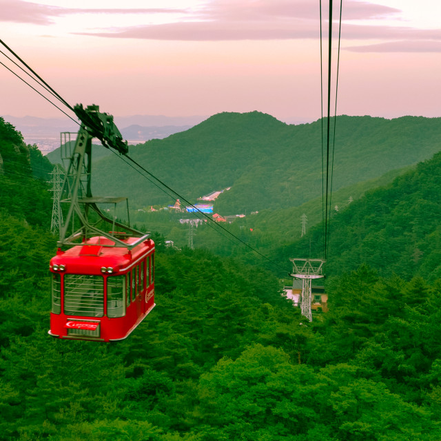 """Red Cablecar"" stock image"