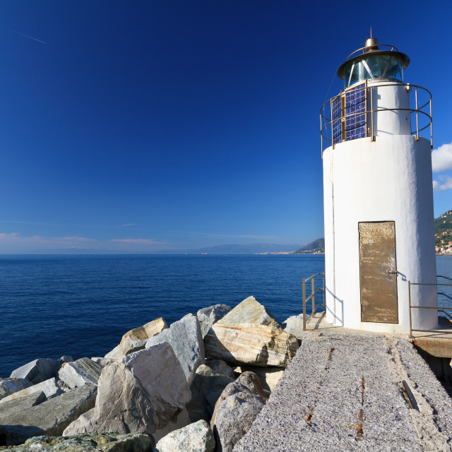 """lighthouse over the sea"" stock image"
