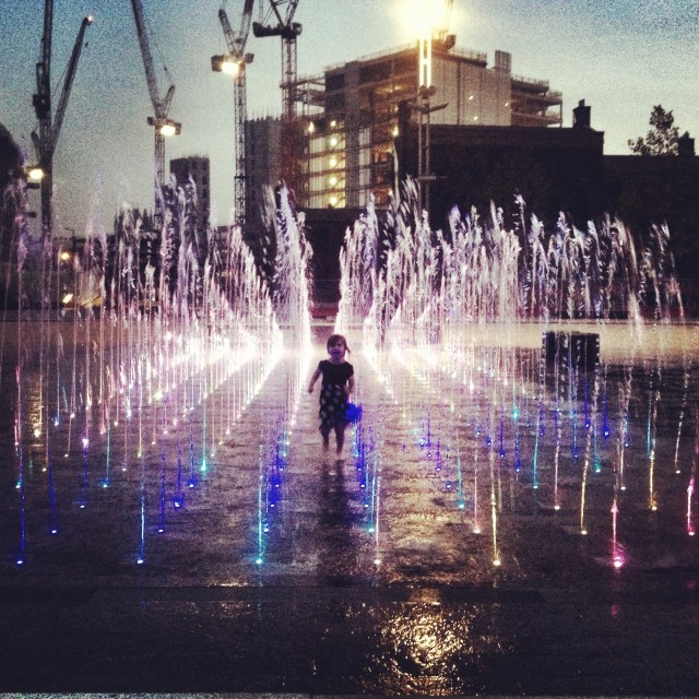 """""""Dancing in fountains"""" stock image"""
