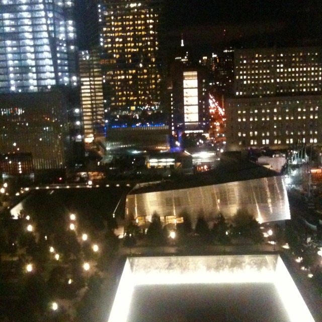 """9/11 Memorial at night