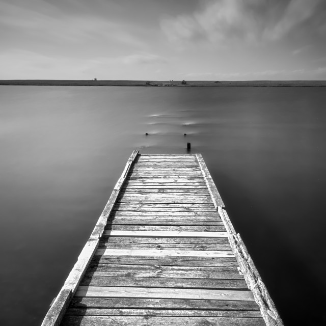 """The Old Jetty"" stock image"
