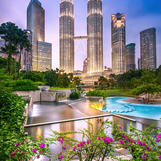 """KLCC Petronas Twin Towers"" stock image"