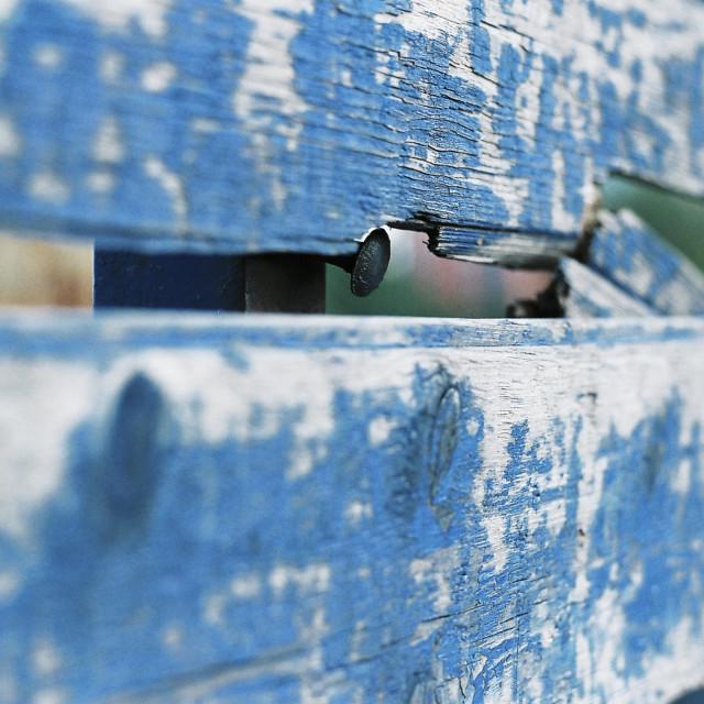 """""""blue fence"""" stock image"""