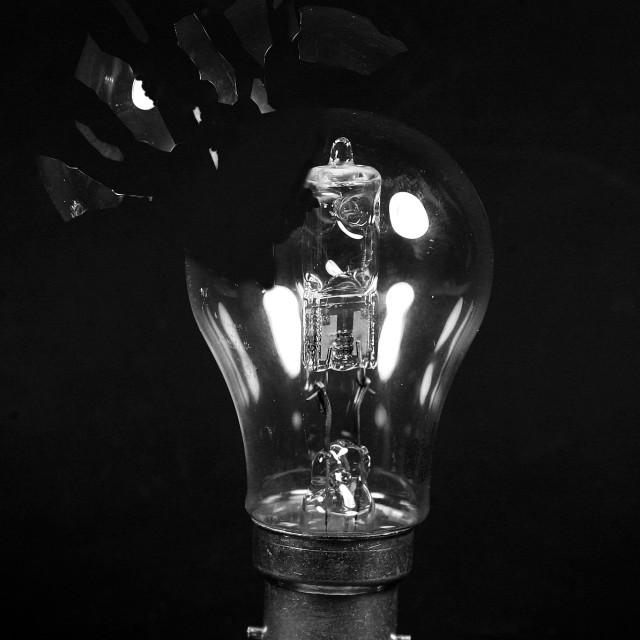 """""""Exploding light bulb"""" stock image"""