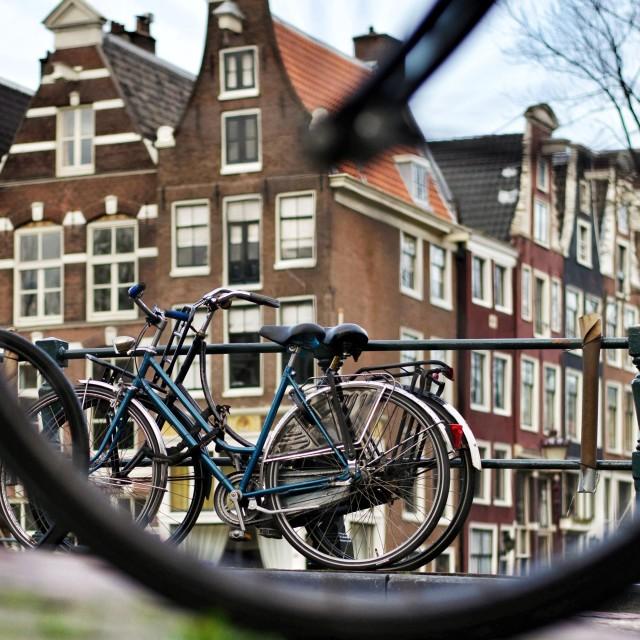 """Amsterdam bikes"" stock image"