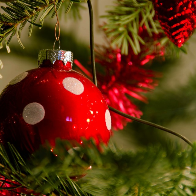 """Christmas decorations"" stock image"
