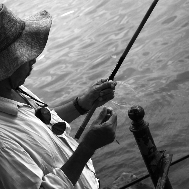 """Fishing in Vietnam"" stock image"