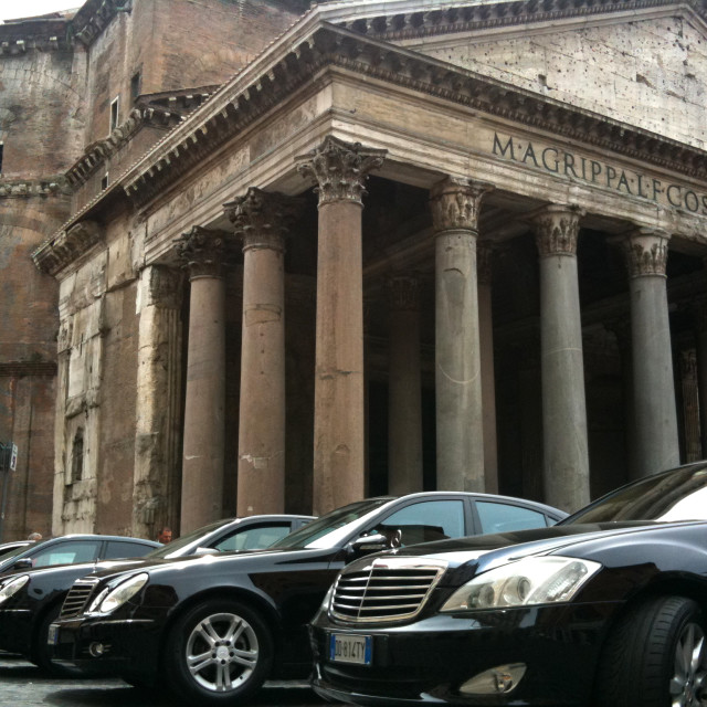 """Parked at the Pantheon"" stock image"