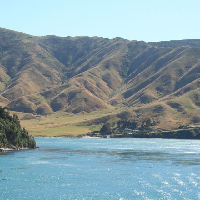 """South Island from Cook Strait"" stock image"