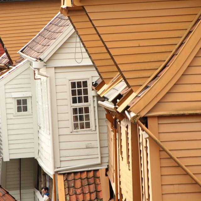 """""""Bergen oldtown"""" stock image"""