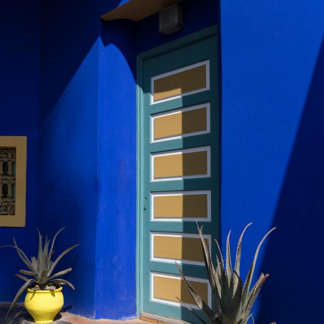 """""""Blue Doorway"""" stock image"""