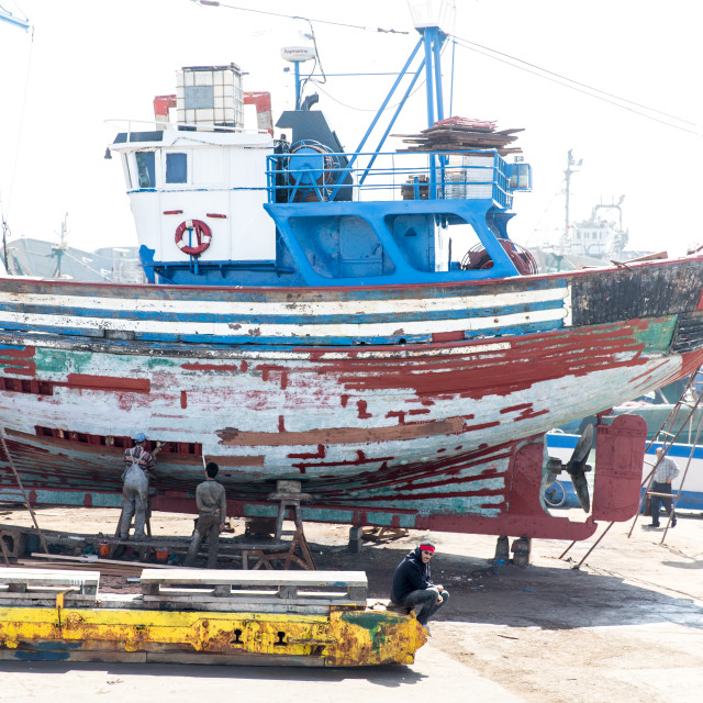 """Boat Yard"" stock image"