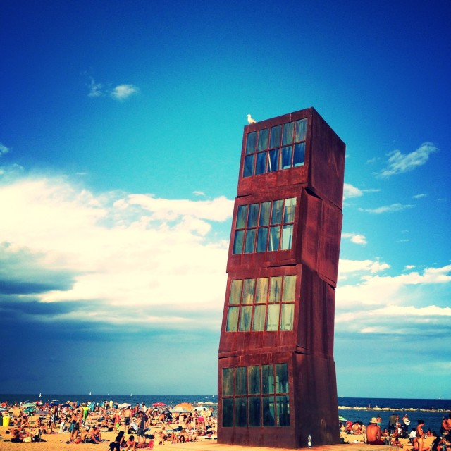 """Barcelona Beachrise"" stock image"