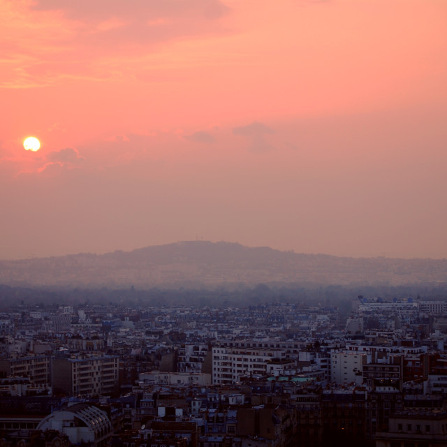 """Dusk. Paris."" stock image"