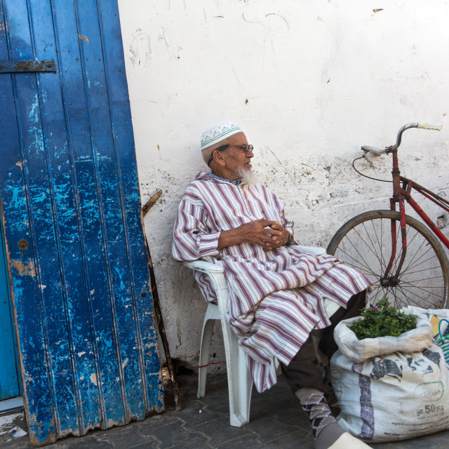"""""""Old Man Sitting"""" stock image"""