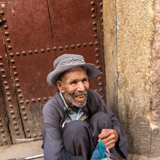 """Moroccan Street Dweller"" stock image"