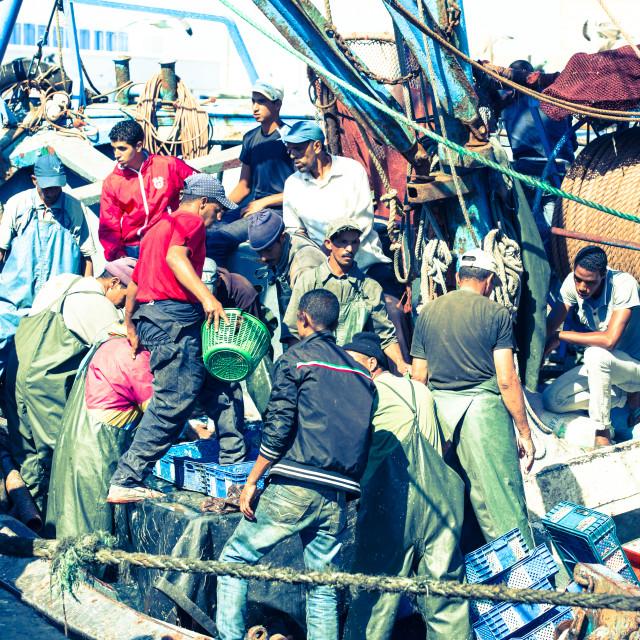 """""""Fishermen Mayhem"""" stock image"""
