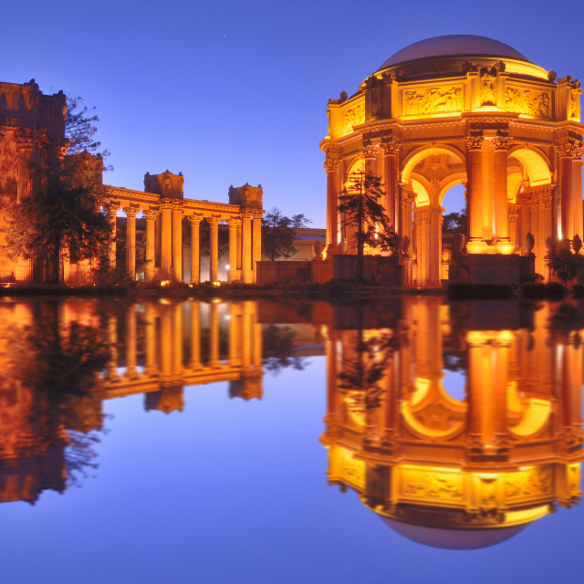 """Palace of Fine Art- reflection"" stock image"