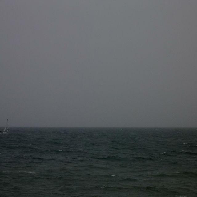 """""""A Boat At Sea"""" stock image"""