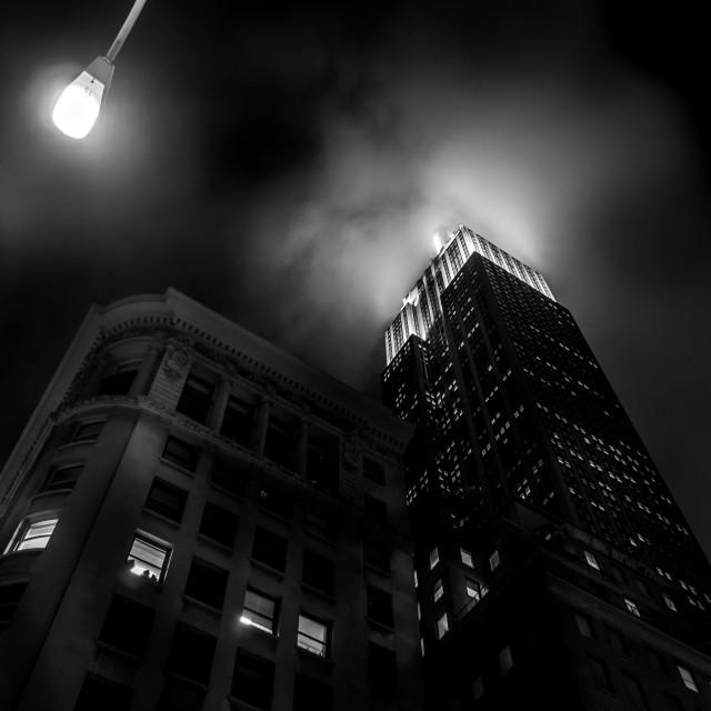 """""""Misty New York city Lights"""" stock image"""