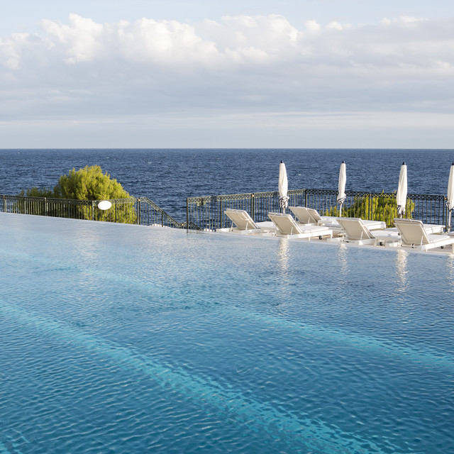 """Infinity Pool Hotel France"" stock image"