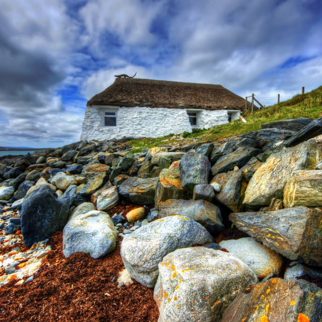 """Berneray Youth Hostel"" stock image"