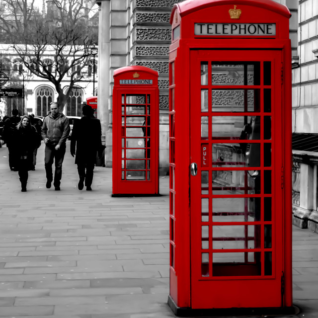 """Telephone Boxes"" stock image"