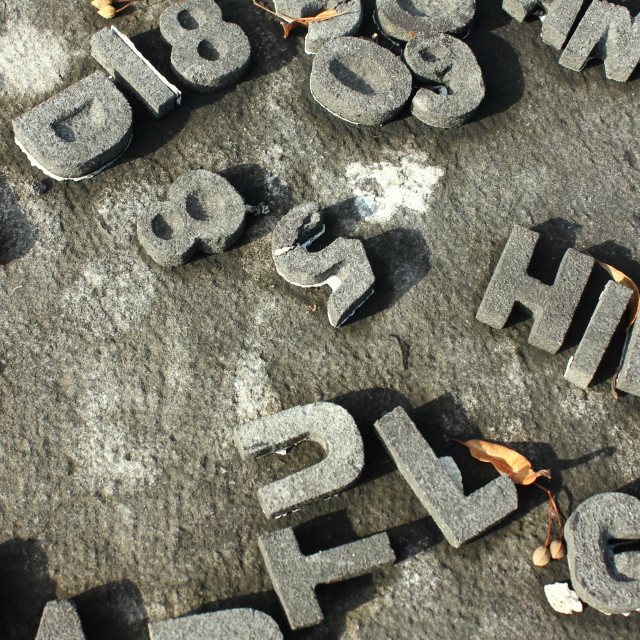 """Tomb Scrabble"" stock image"