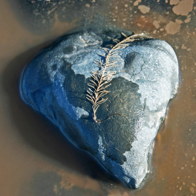 """Stone heart"" stock image"