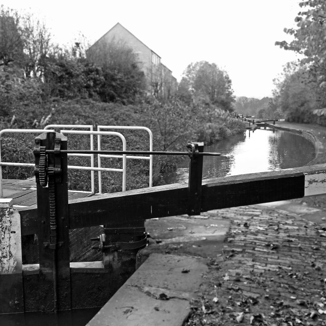 """Canal Locks"" stock image"