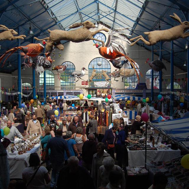 """""""Abergavenny Market"""" stock image"""