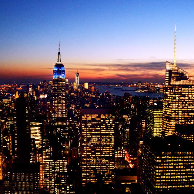 """Manhattan Skyline."" stock image"