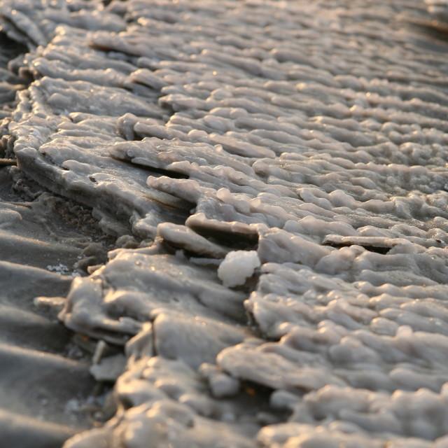 """Dead Sea salt formations"" stock image"