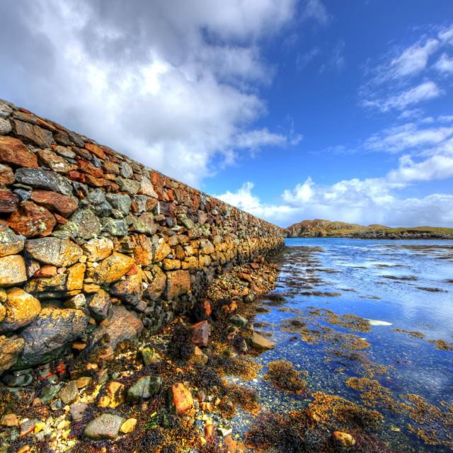 """Rodel, Isle of Harris"" stock image"
